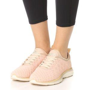Woman's APL Blush & Cream sneakers sz 6
